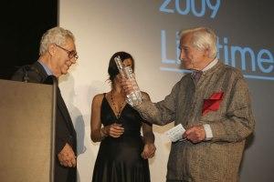 Elliot Erwitt et Marc Riboud réunis par Sony lors de la soirée cannoise des Sony World PhotographyAwards 2009